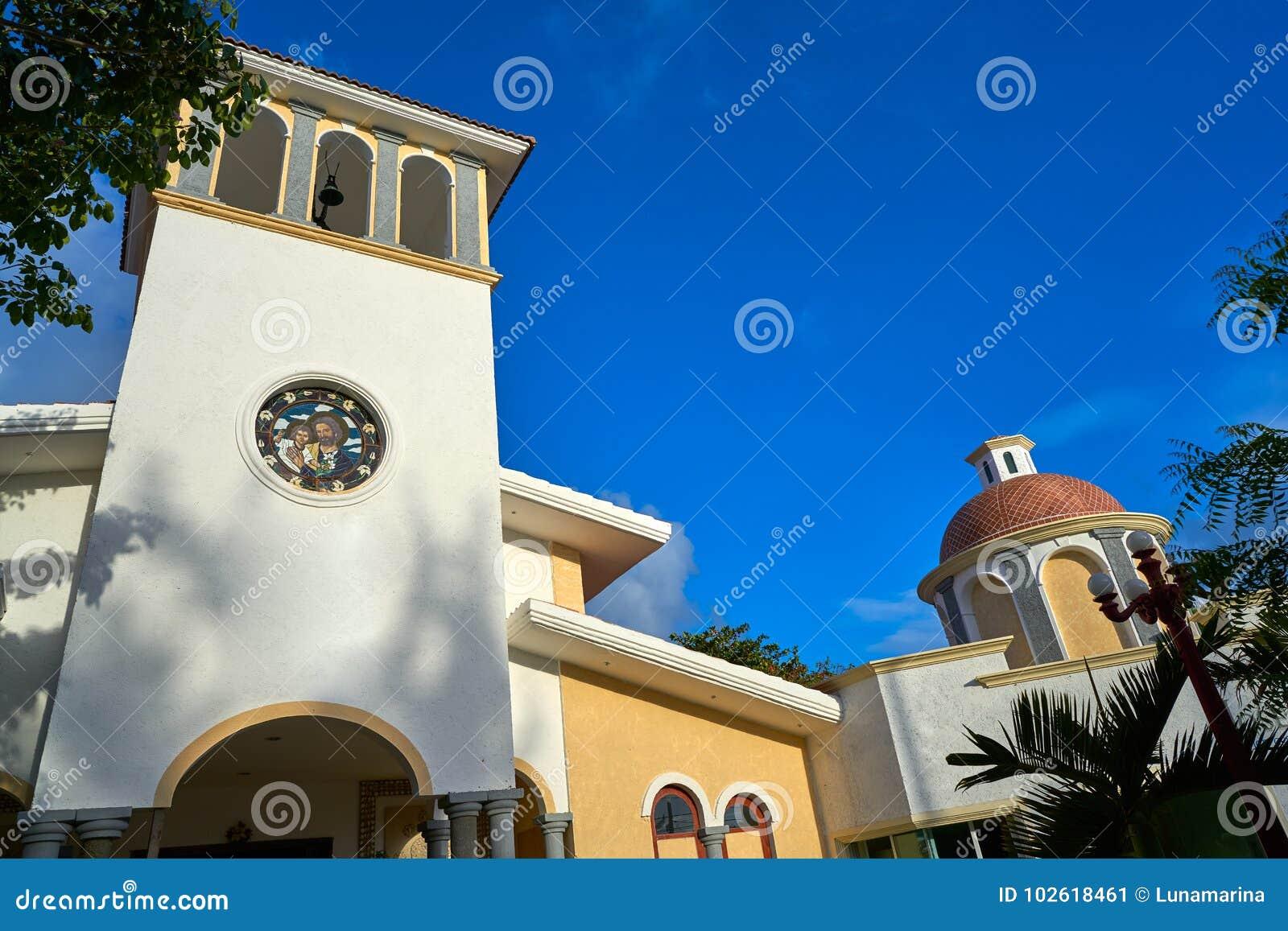 Chiesa del Morelos di Puerto in maya di Riviera