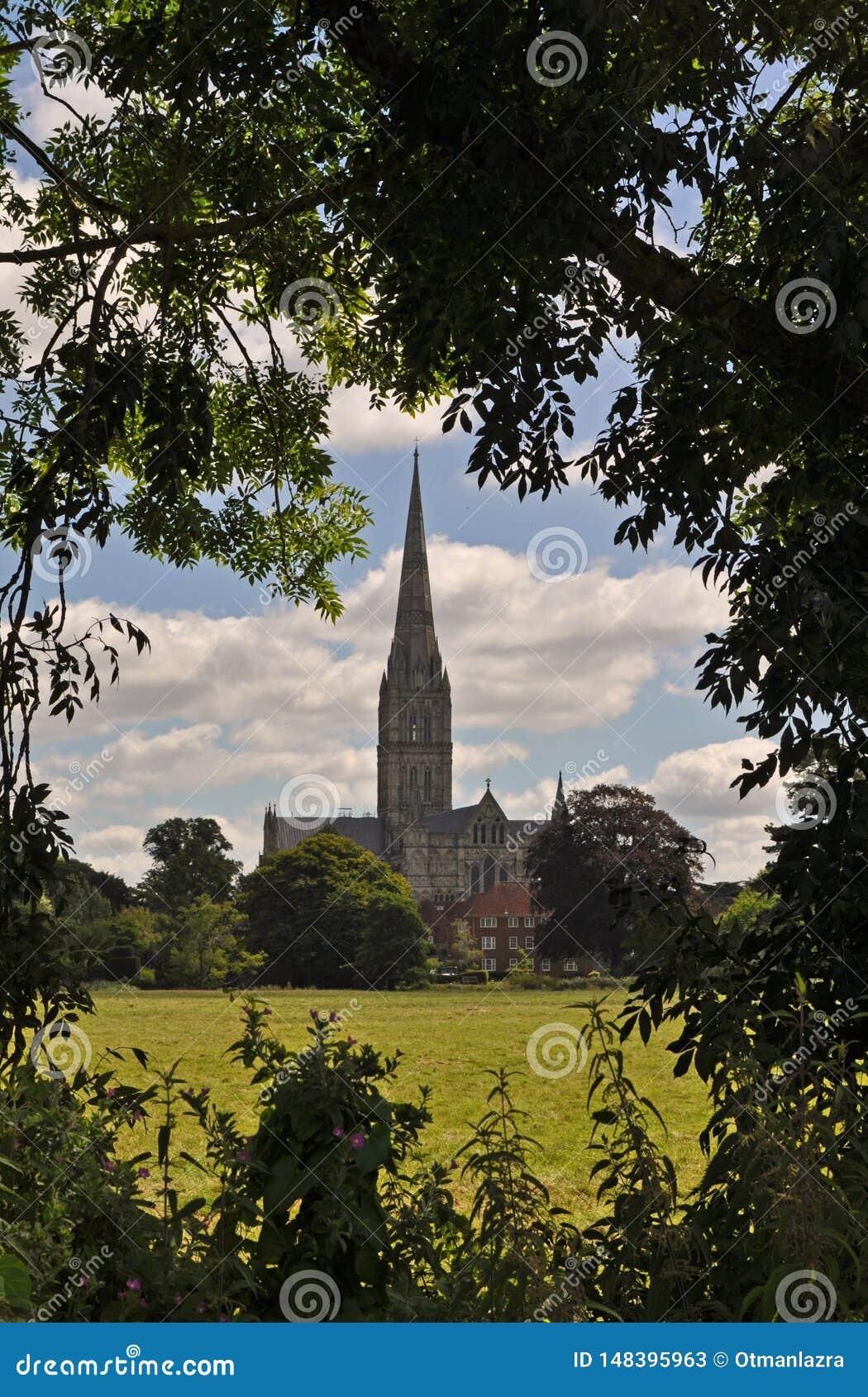 Chiesa della cattedrale di Salisbury di vergine Maria benedetto
