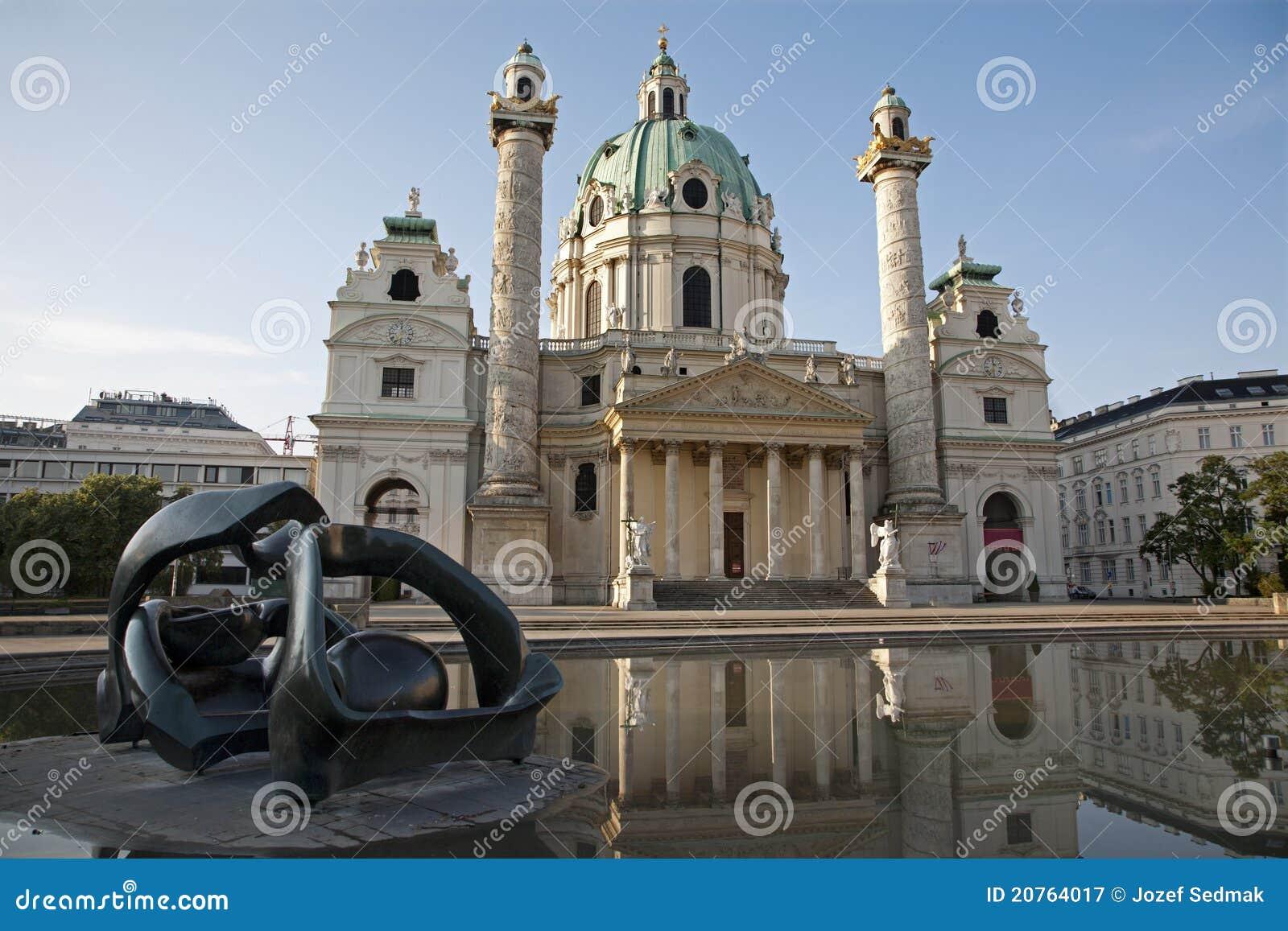 Chiesa di baroque del Charles - di Vienna Boromeo