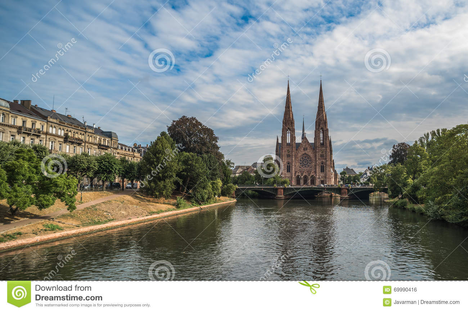 Chiesa di Saint Paul a Strasburgo, l Alsazia, Francia