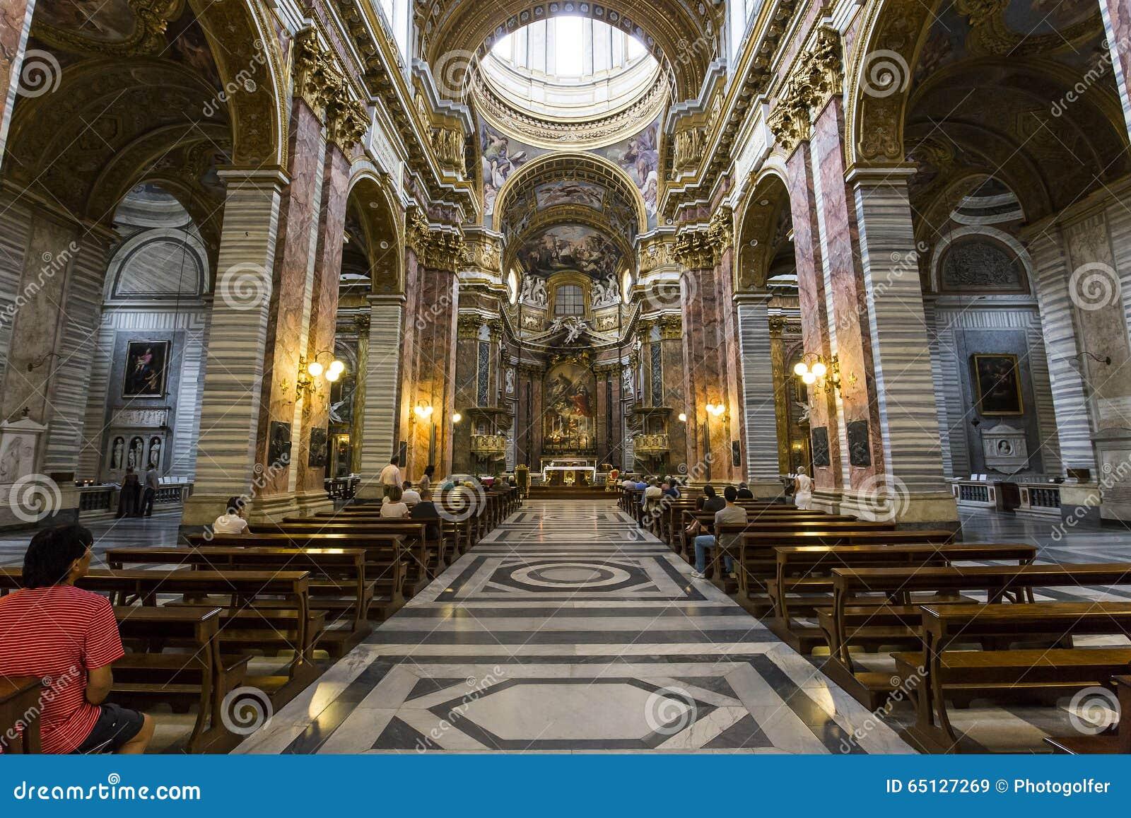 Chiesa di san carlo al corso roma italia immagine stock for Corso di arredatore d interni roma