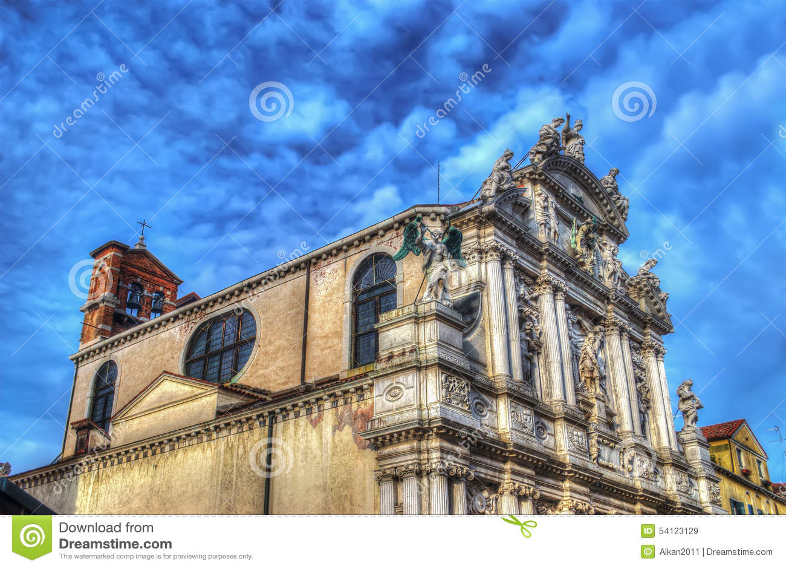 Chiesa di Santa Maria del Giglio a Venezia nel hdr