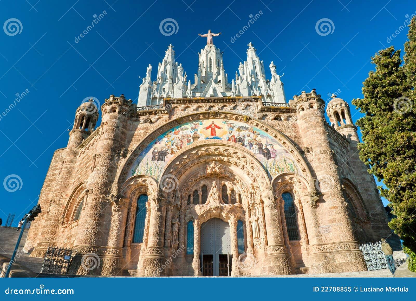 Chiesa di tibidabo a barcellona spagna fotografia stock for Spagna barcellona