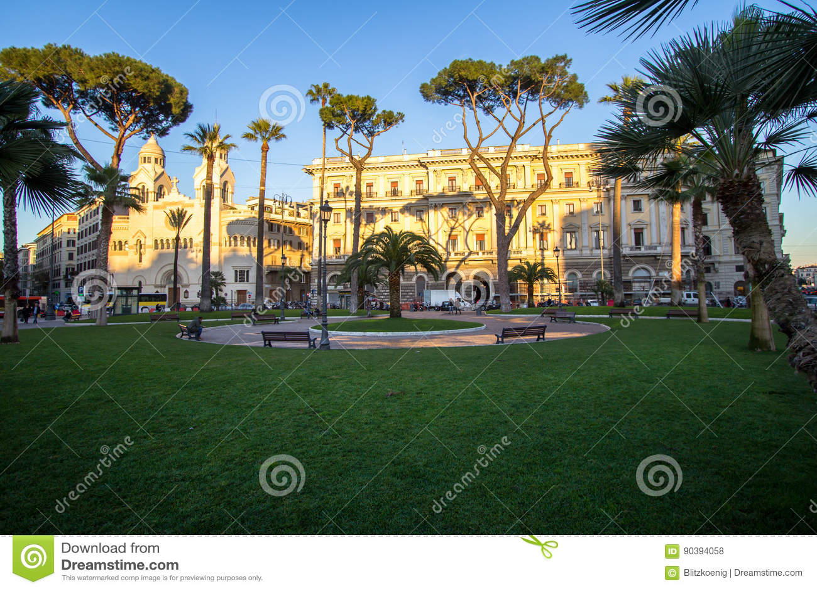 Chiesa evangelica di Valdese alla piazza Cavour a Roma