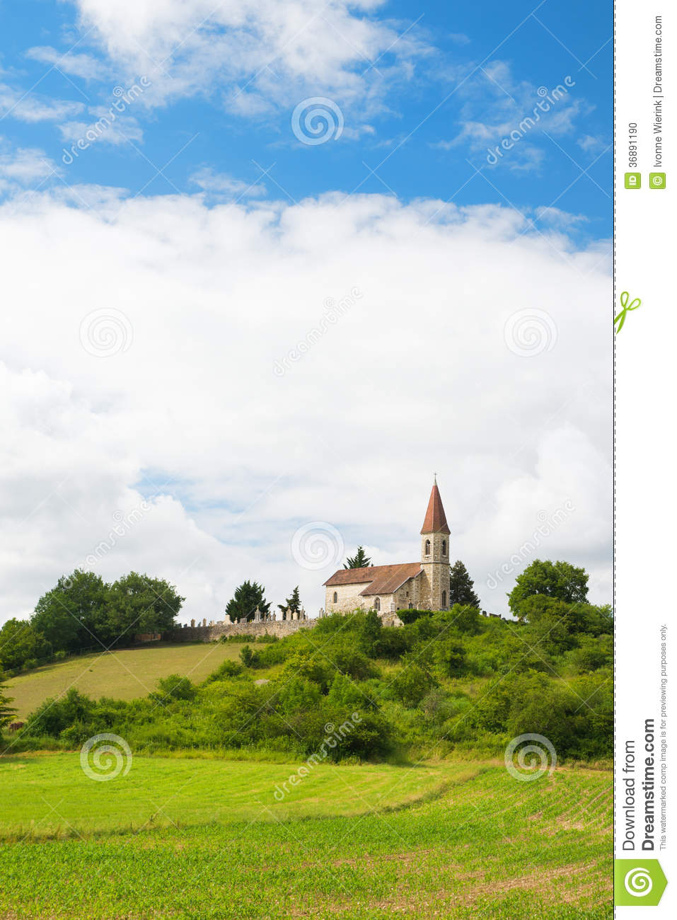 Download Chiesa in Francia fotografia stock. Immagine di francese - 36891190