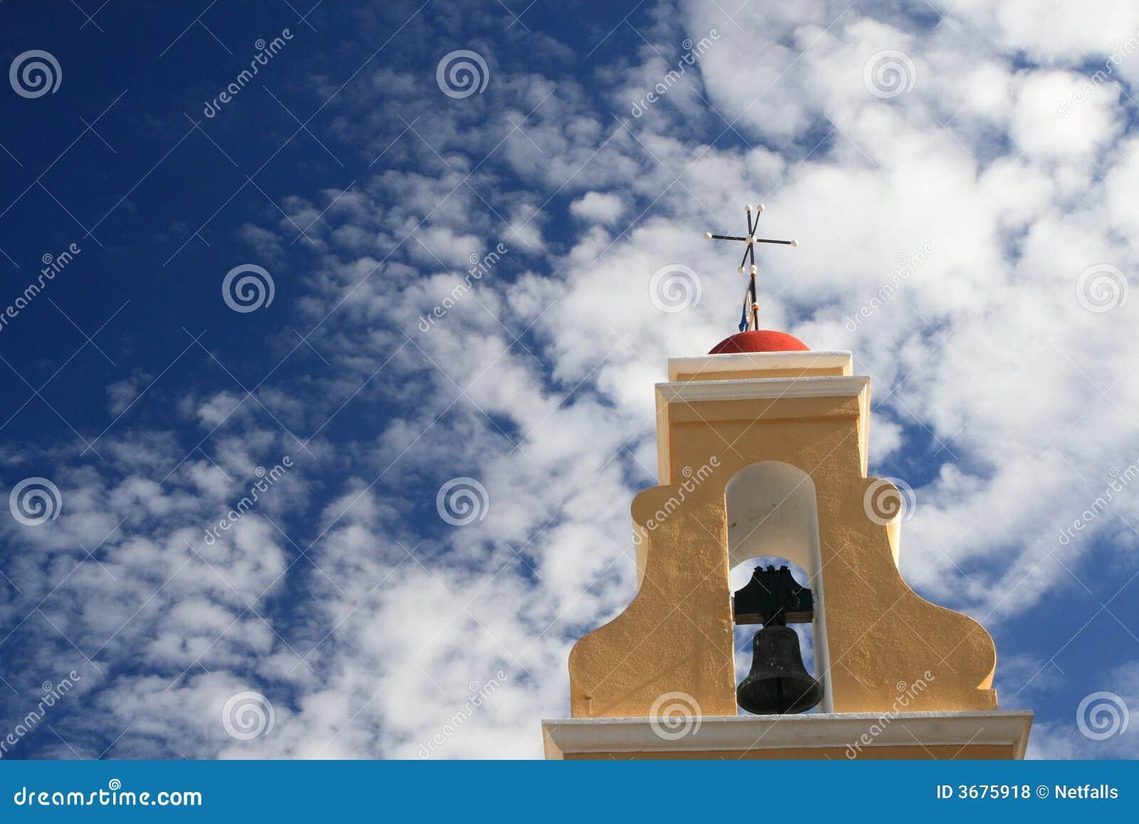 Download Chiesa greca fotografia stock. Immagine di oceano, torretta - 3675918
