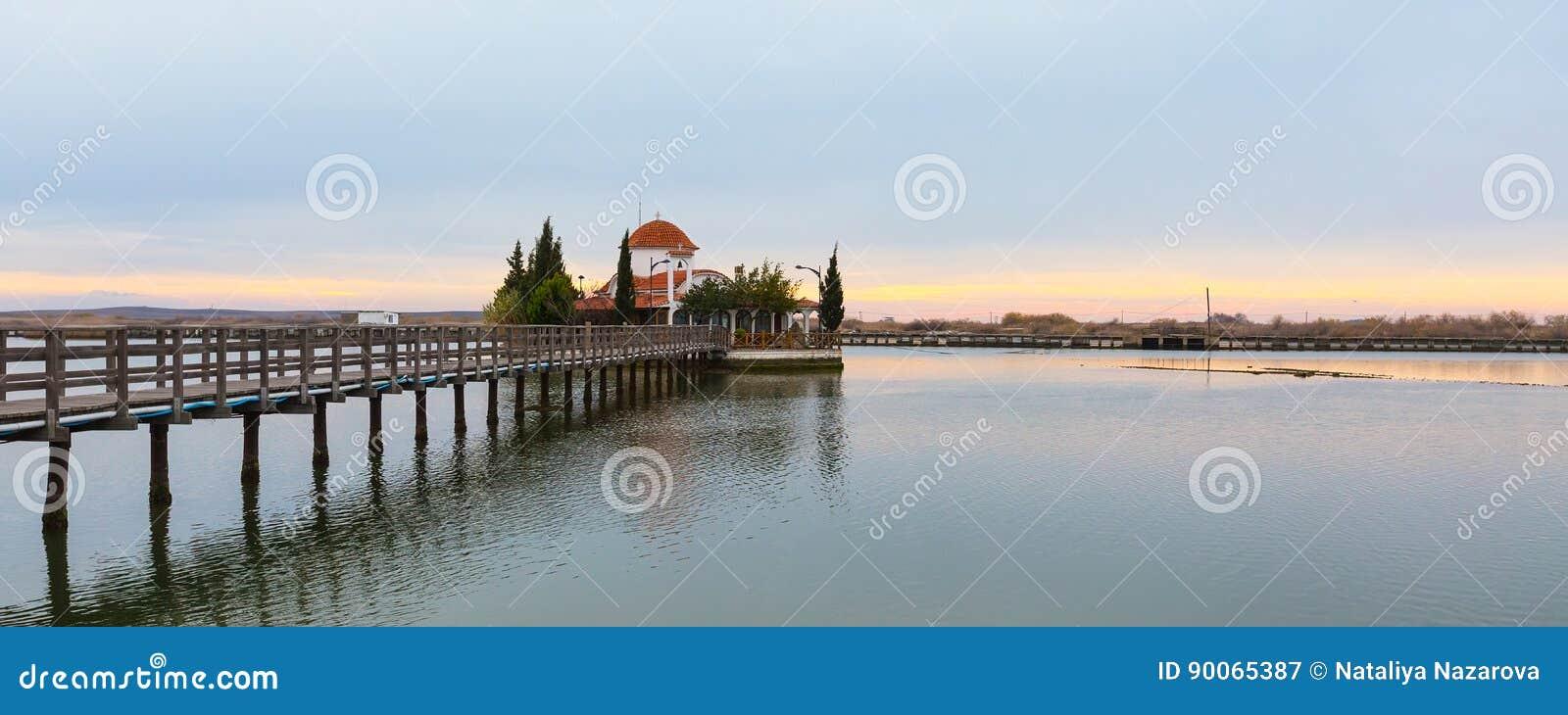 Chiesa, Oporto Lagos, lago Vistonida, prefettura di Xanthi, la Tracia, Grecia