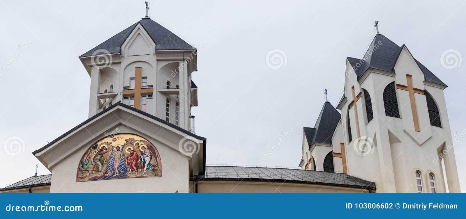 Chiesa ortodossa degli imperatori santi Costantina e Helena su Alexandru Odobescu Street nella città di Brasov in Romania
