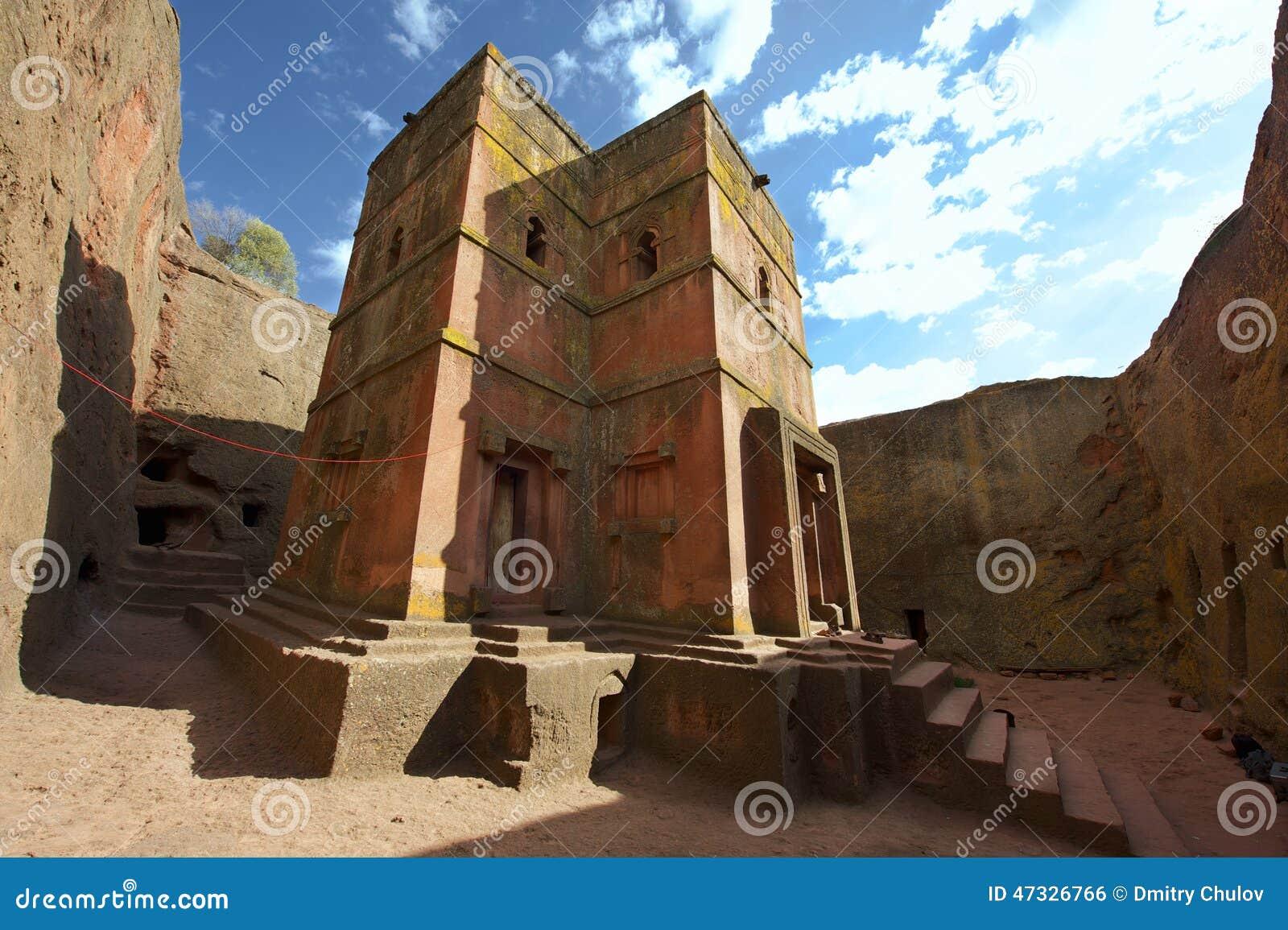 Chiesa roccia-spaccata monolitica unica di St George, patrimonio mondiale dell Unesco, Lalibela, Etiopia