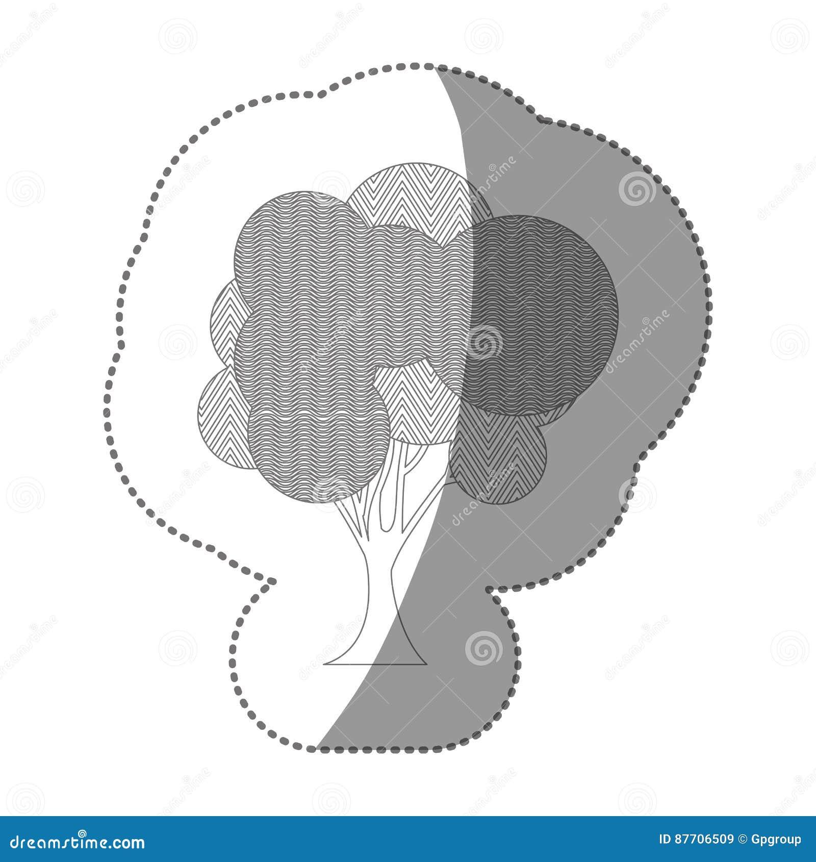 Chiffre belle icône d arbre de timbre