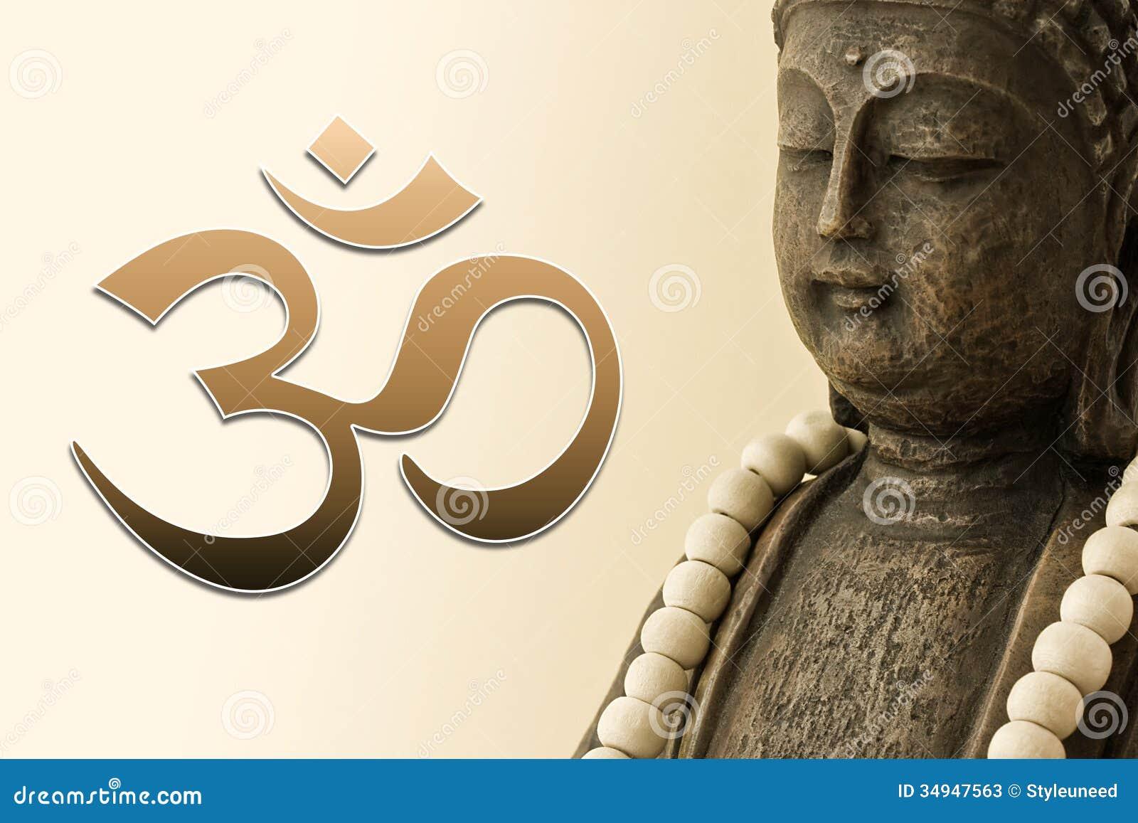 chiffre de bouddha et symbole de l 39 om image stock image du symbolique bead 34947563. Black Bedroom Furniture Sets. Home Design Ideas