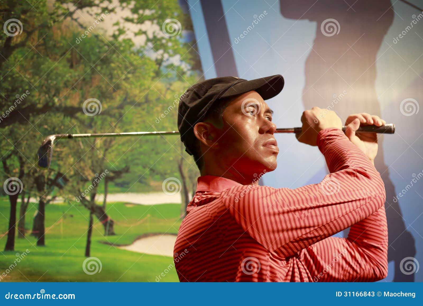 Chiffre de cire de golfeur américain Tiger Woods