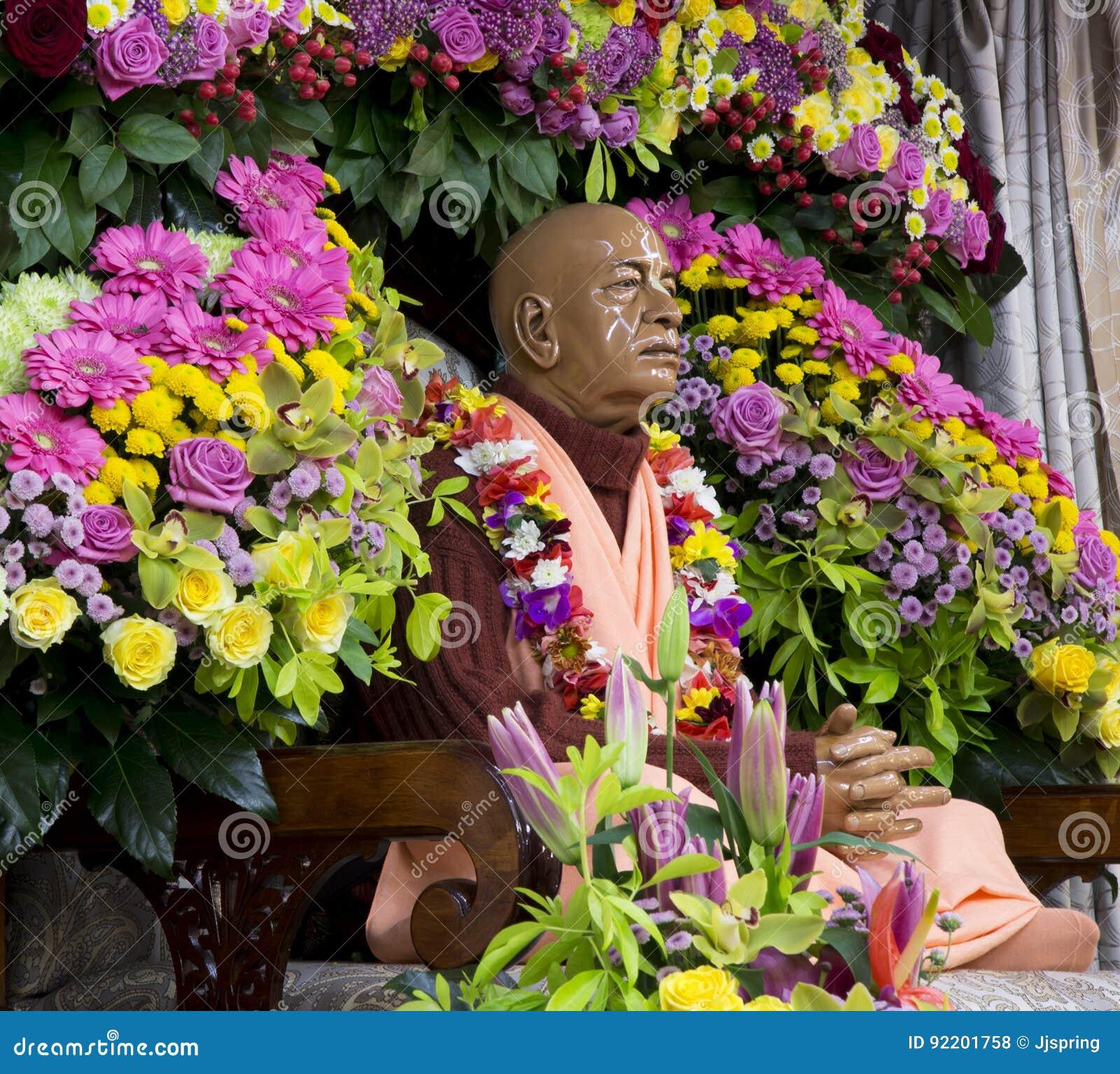 Chiffre de Svami Prabhupada en lièvres Krishna Temple