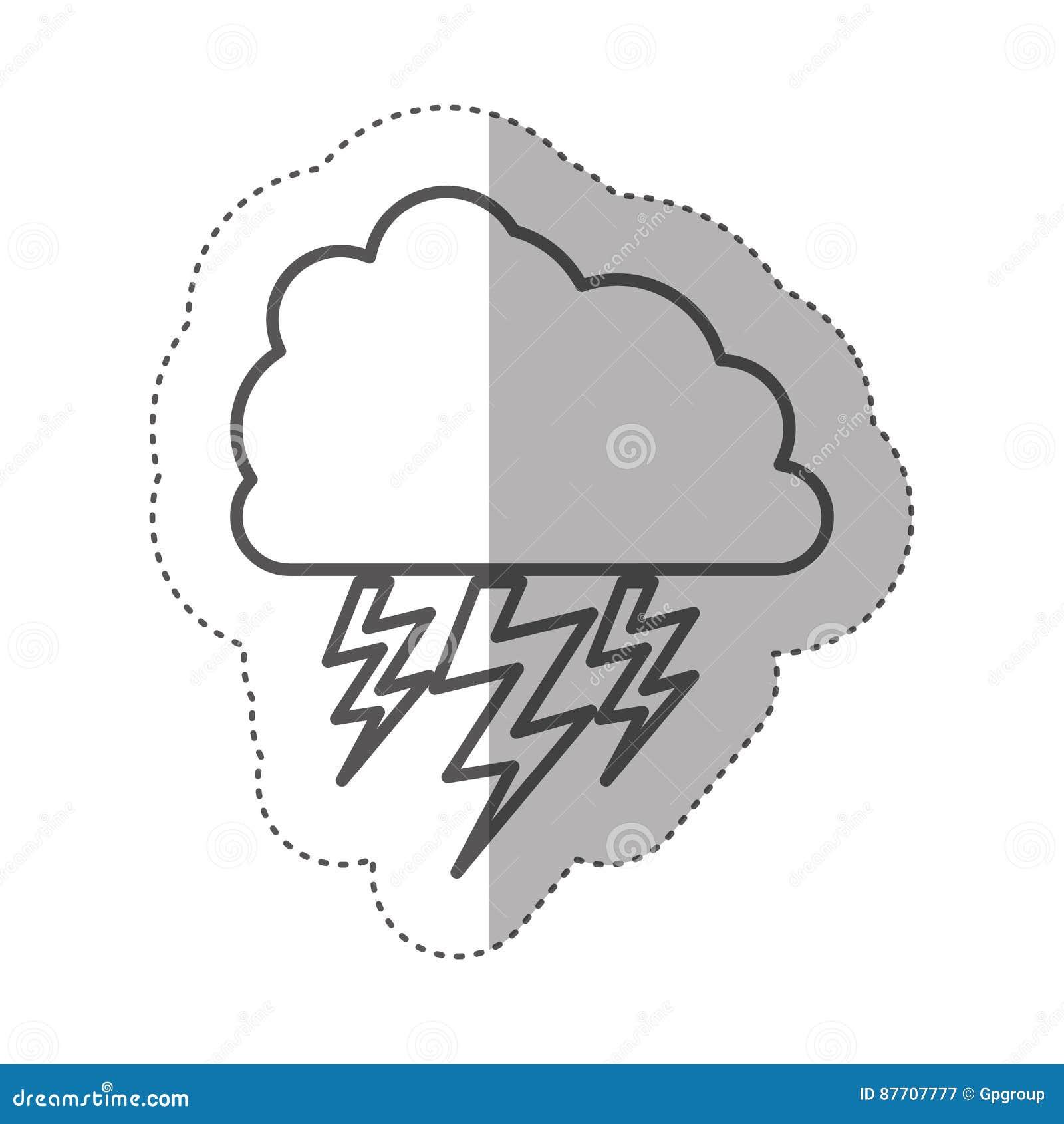 Chiffre nuage avec l icône de rayon