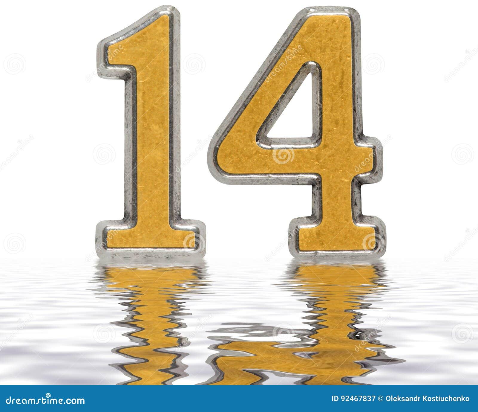 chiffre 14 quatorze r fl chi sur la surface de l 39 eau o illustration stock image 92467837. Black Bedroom Furniture Sets. Home Design Ideas