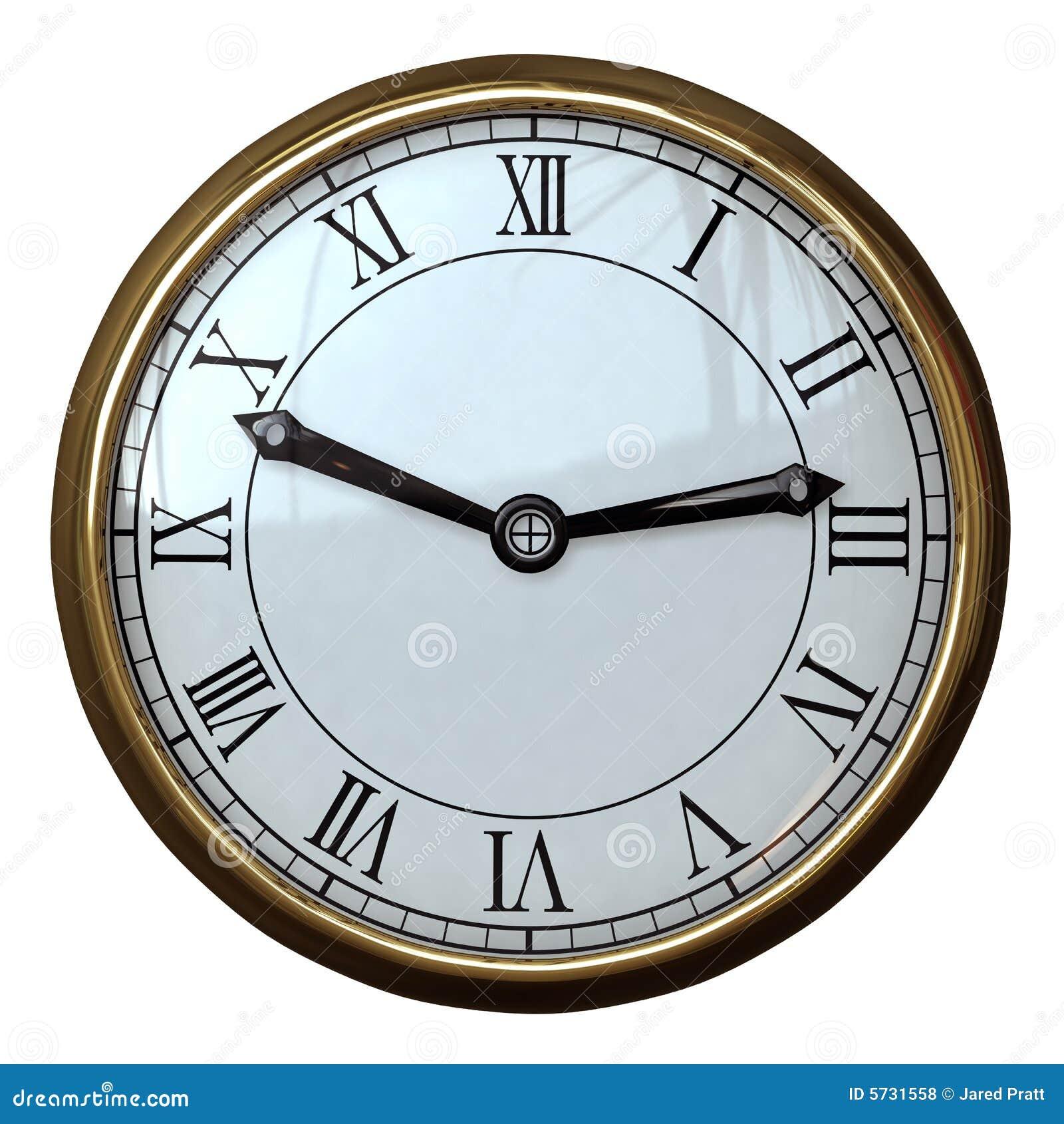 chiffre romain d 39 horloge simple photos libres de droits image 5731558. Black Bedroom Furniture Sets. Home Design Ideas