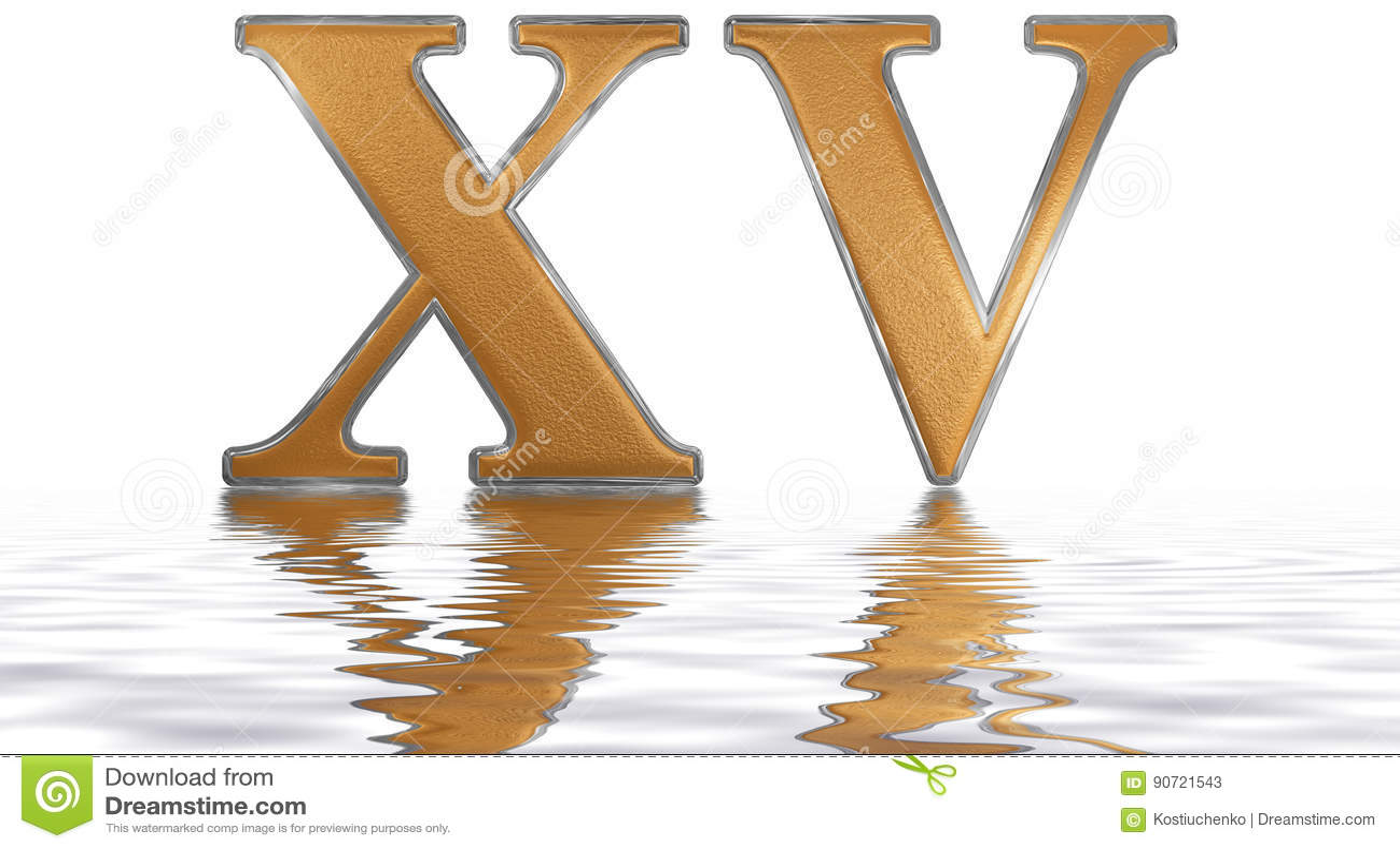 chiffre romain xv quindecim 15 quinze r fl chis sur l. Black Bedroom Furniture Sets. Home Design Ideas