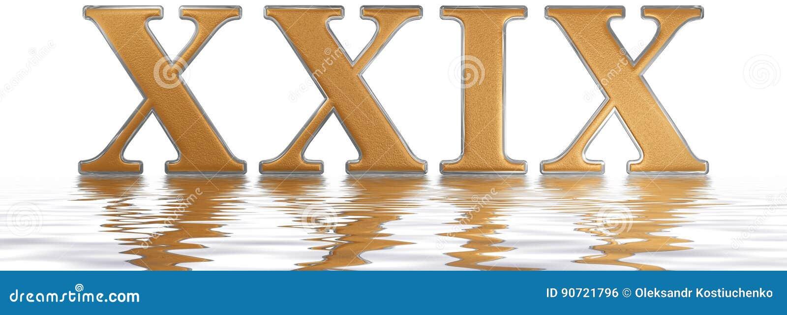 23 Chiffre Romain chiffre romain xxix, novem et viginti, 29, vingt-neuf, reflété