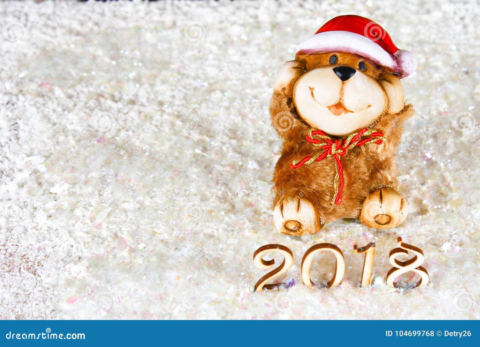 noel 2018 a la neige Chiffres En Bois De 2018 Sur La Neige L'atmosphère De Noël La  noel 2018 a la neige