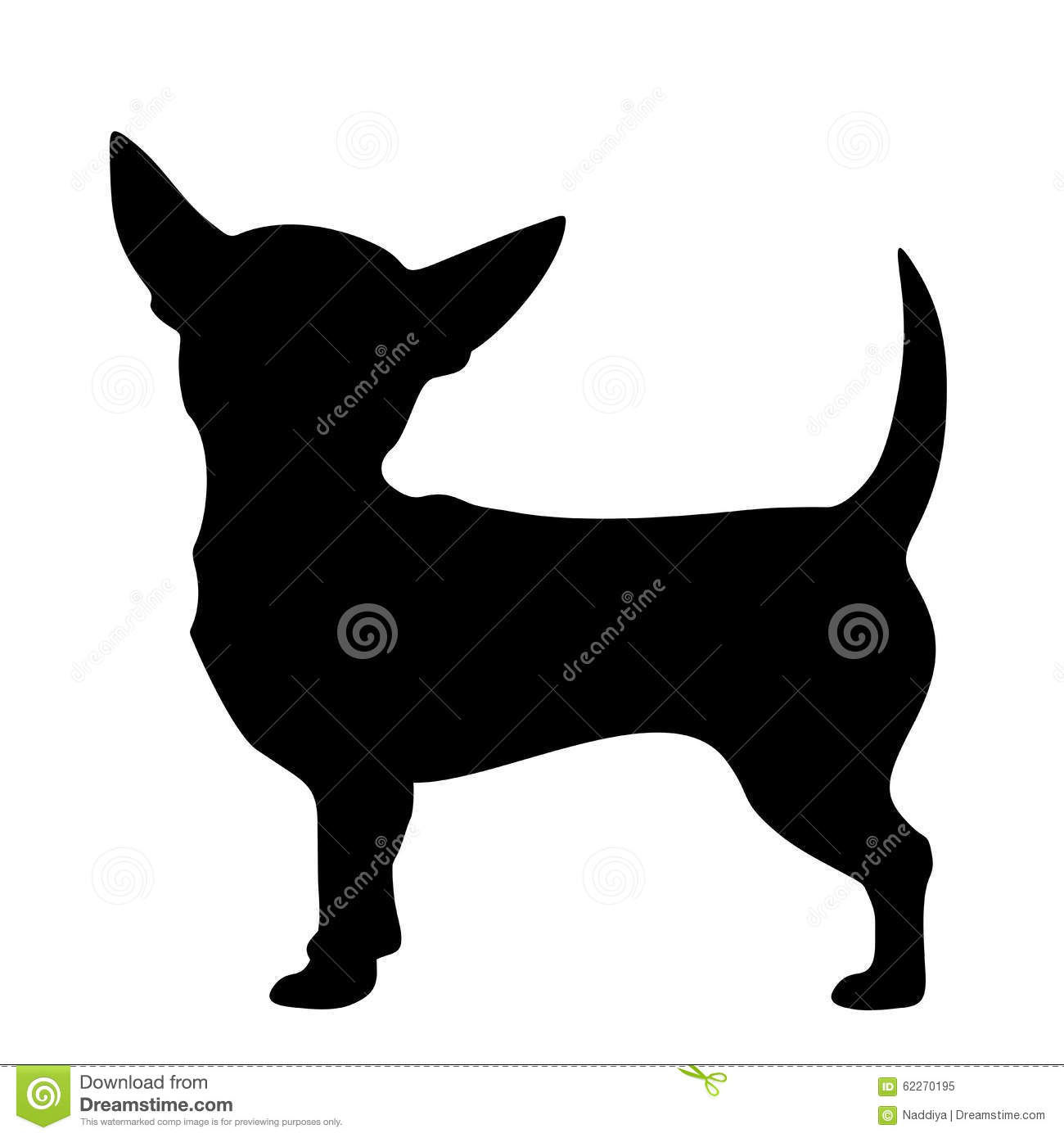 More similar stock images of ` Chihuahua dog. Vector black silhouette ...