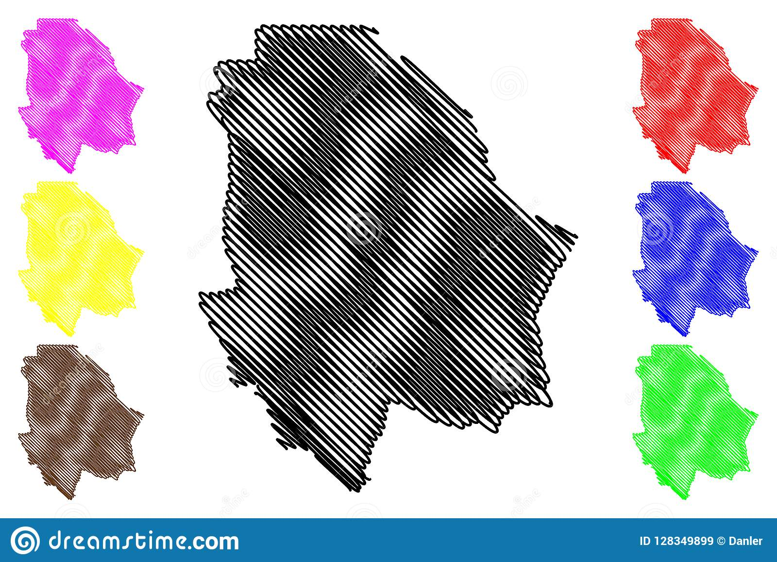 State Map Mexico.Chihuahua State Map Vector Stock Vector Illustration Of Icon