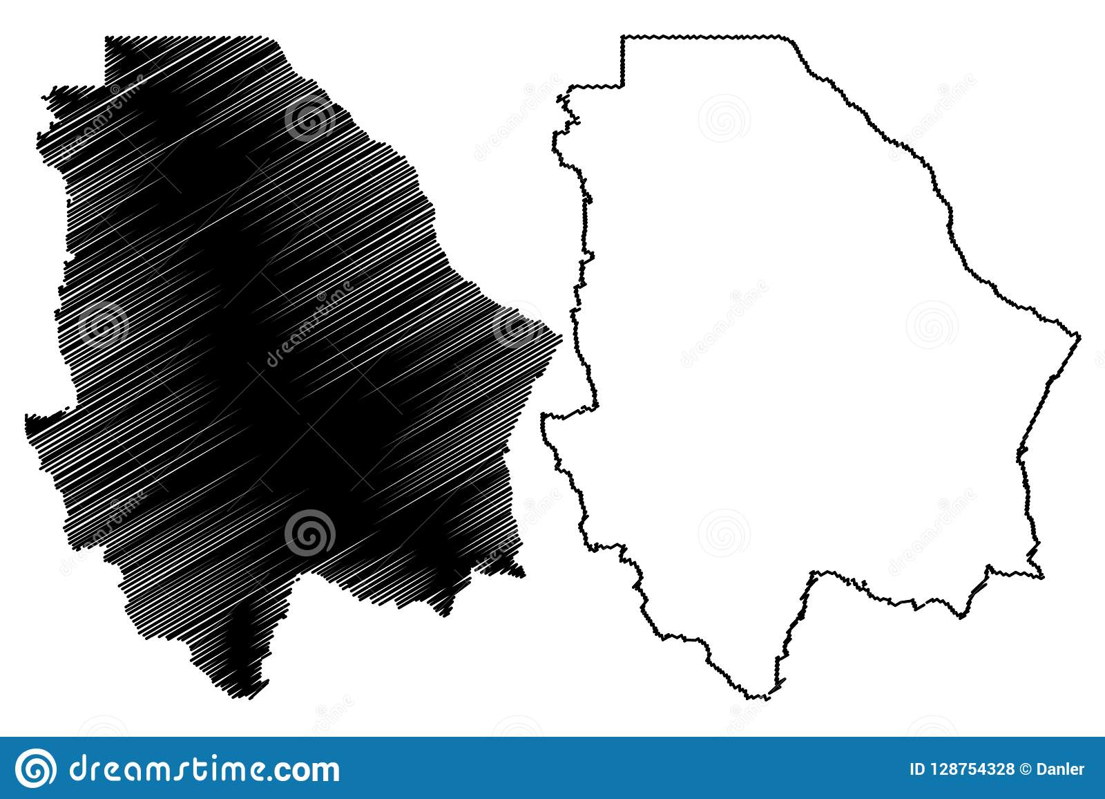 State Map Mexico.Chihuahua State Map Vector Stock Vector Illustration Of Continent