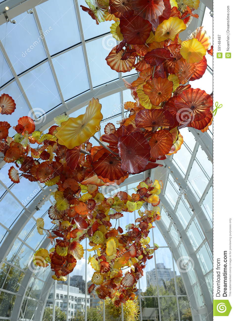 Chihuly Garden And Glass Museum In Seattle Editorial