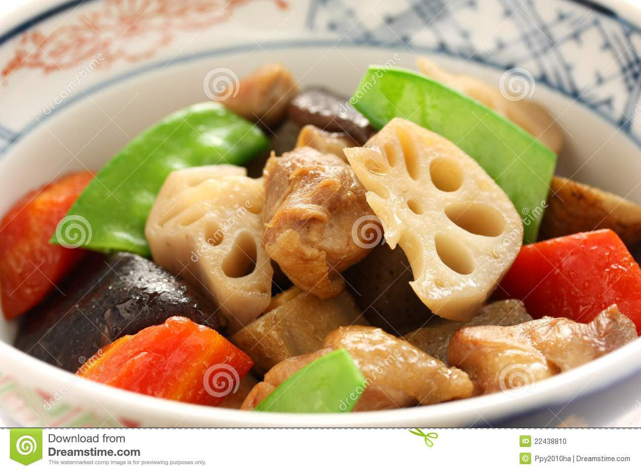 Chikuzenni japanese nimono cuisine stock photo image for Asian cuisine 08052