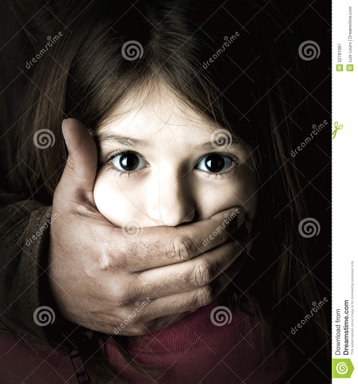 child abduction stock photo