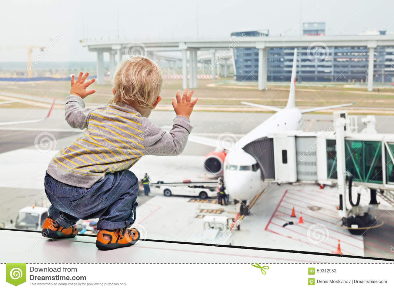 Child, airport, travel, baby, family, vacation, gate, boy, airplane, plane, aircraft, passenger, boarding, departure, summer, wait