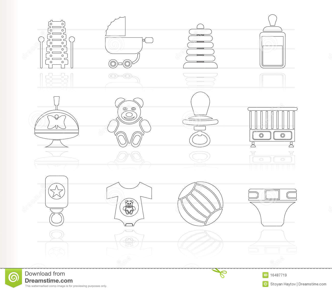 child baby and baby online shop icons royalty free stock images image 16487719. Black Bedroom Furniture Sets. Home Design Ideas