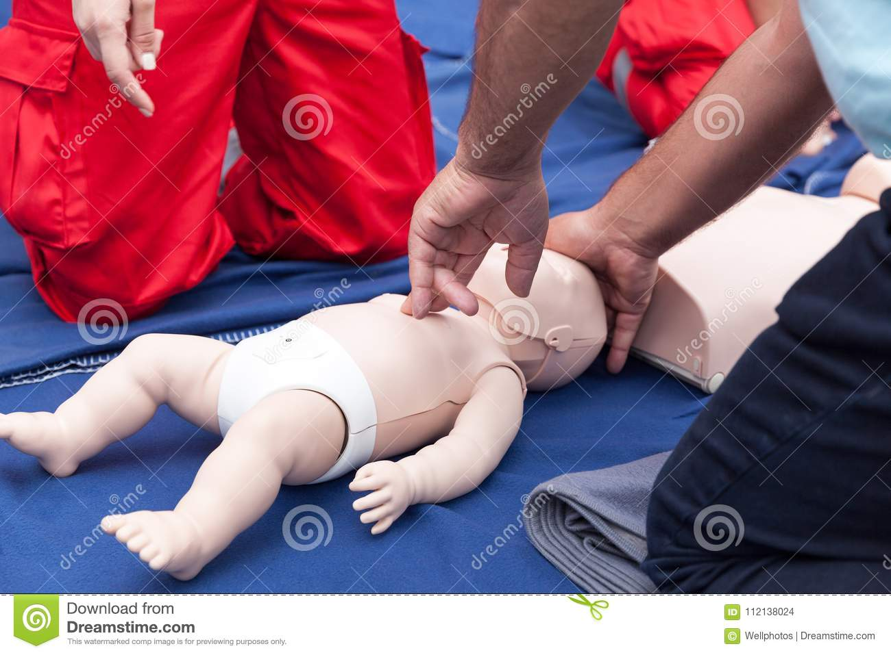 728a2b3867 Child or baby first aid training. Cardiopulmonary resuscitation - CPR.