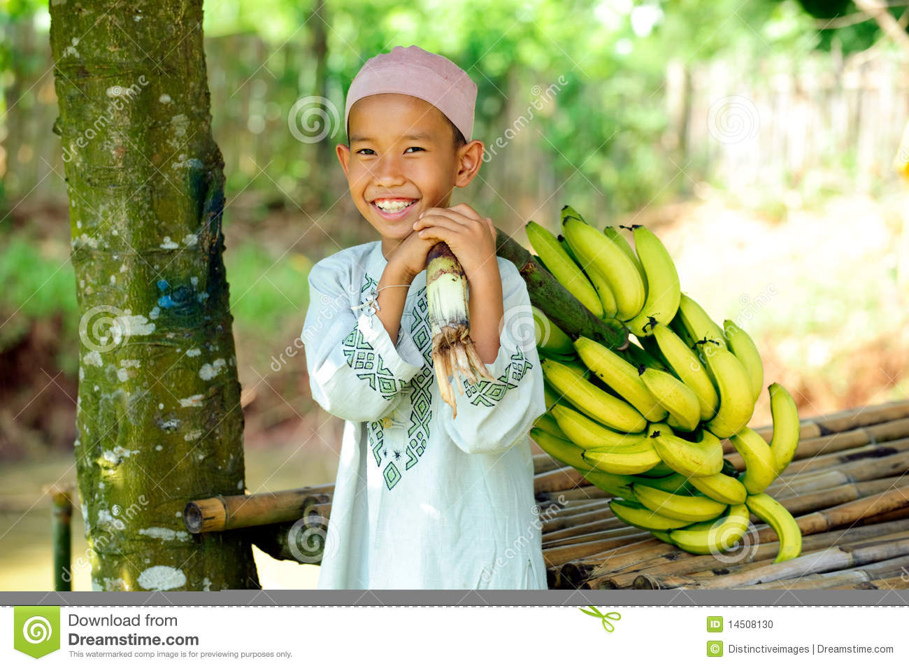 Child with Bananas