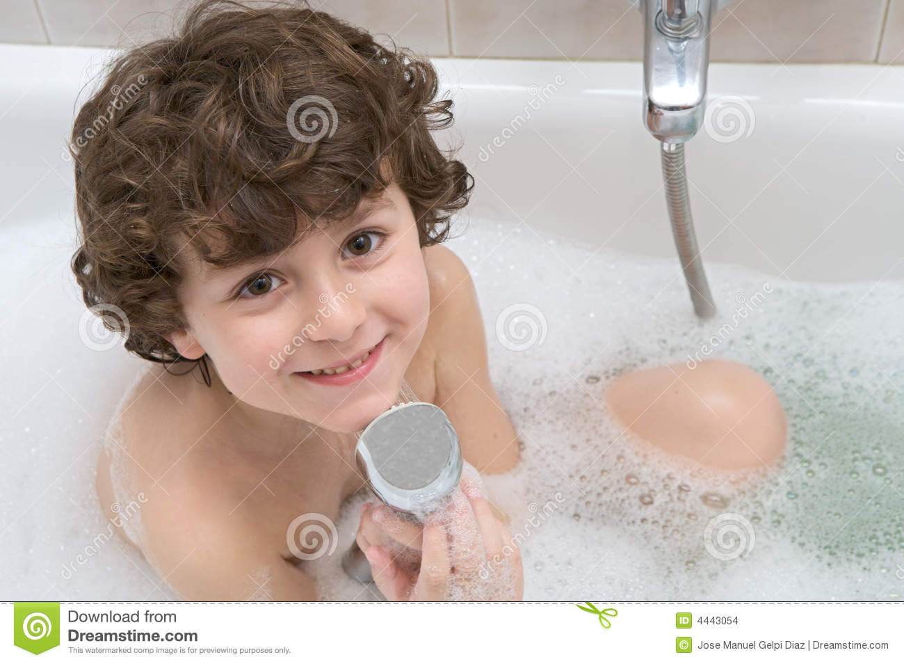 Child In The Bath Stock Photo Image Of Clean Portrait