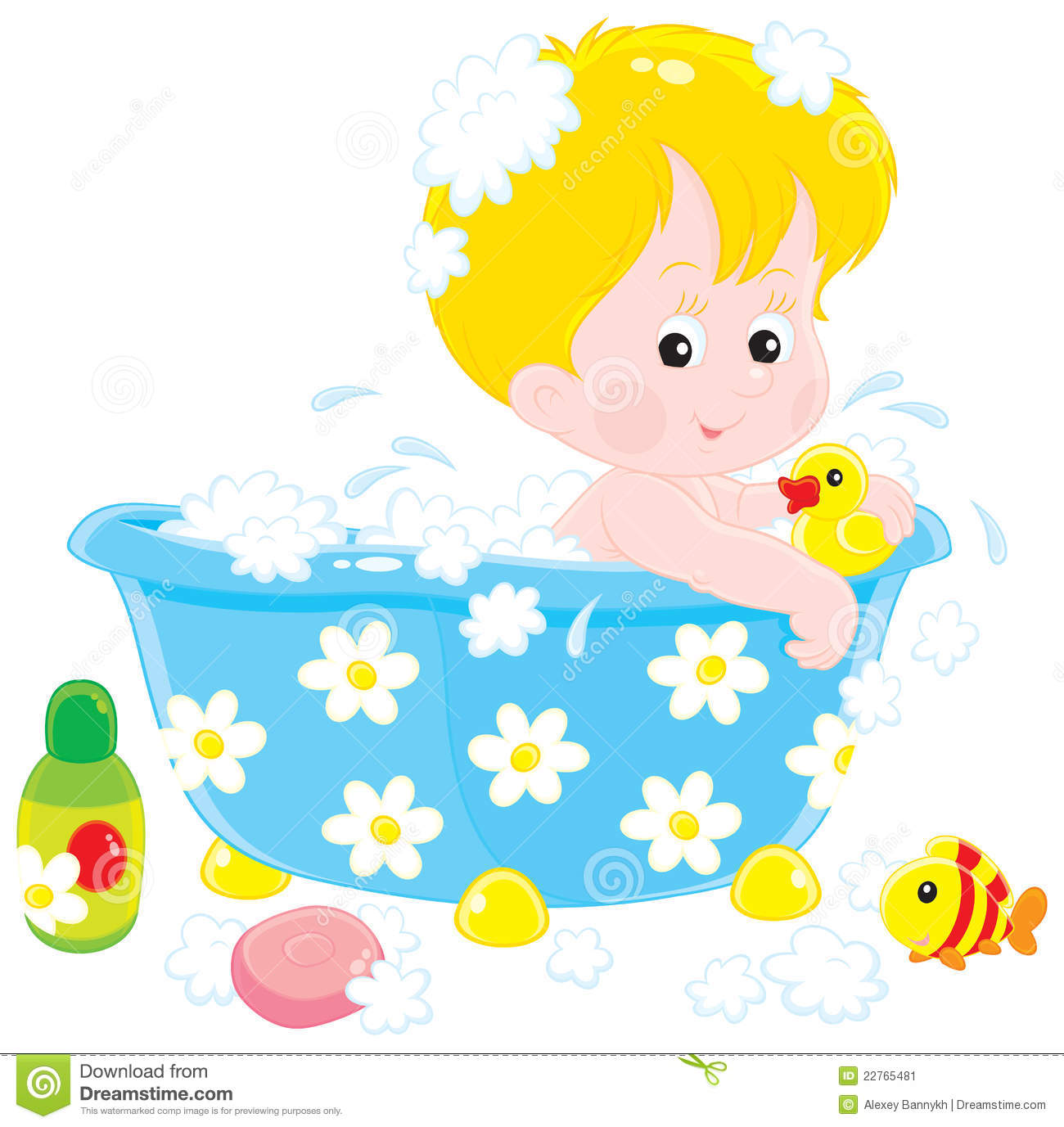 Little Boy Toys Clip Art : Child bathing with toys stock vector illustration of baby