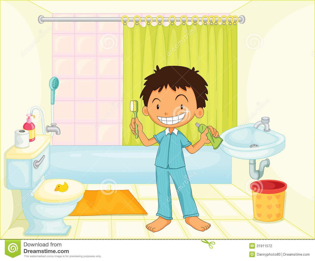Child In A Bathroom Stock Photography Image 31911572