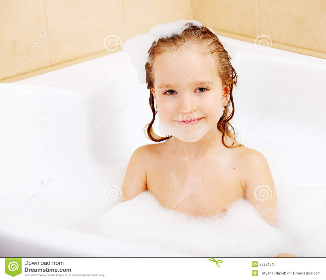 child in the bathtub stock photo image 23271510. Black Bedroom Furniture Sets. Home Design Ideas