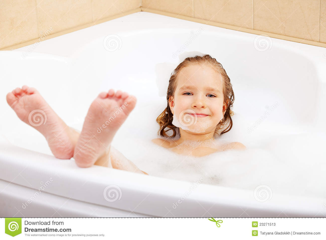 Child In The Bathtub Stock Image Image Of People Human