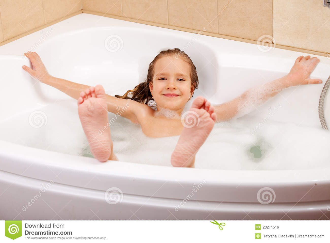 Child in the bathtub stock photo. Image of person, bubbles - 23271516
