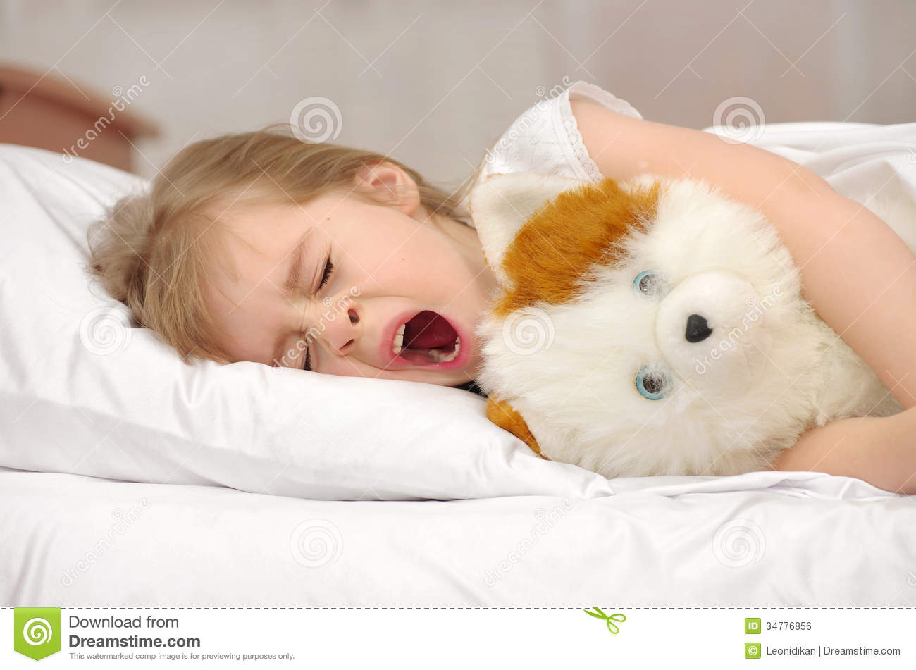 Child in bed royalty free stock image image 34776856