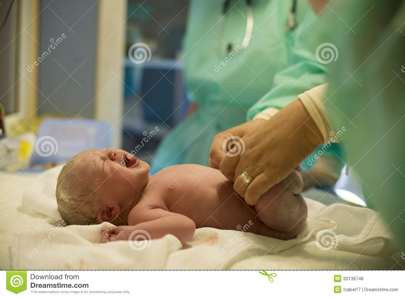 Download Child after birth stock photo. Image of baby, medical - 20136748