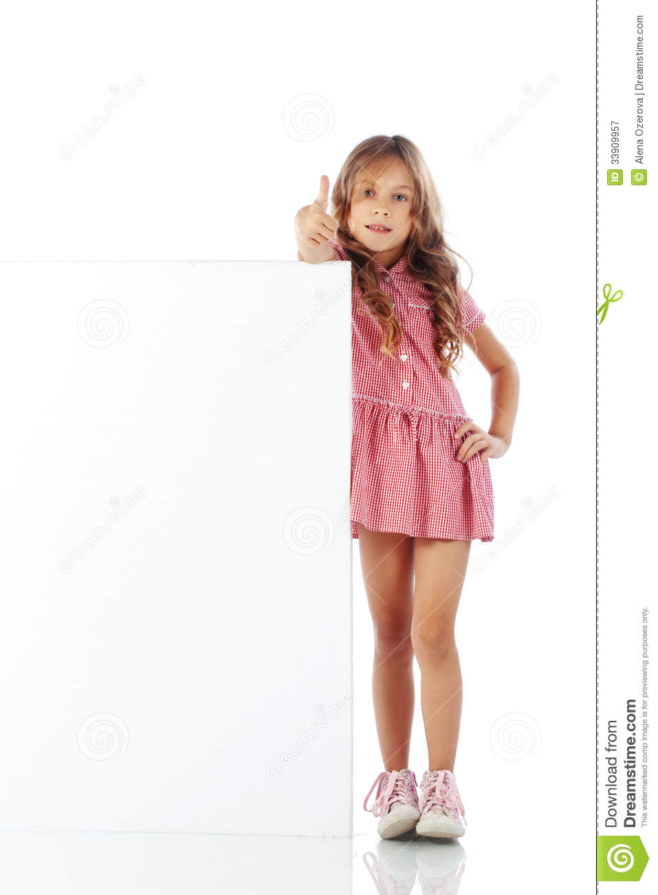 Child With Blank Board Royalty Free Stock Photography - Image ...