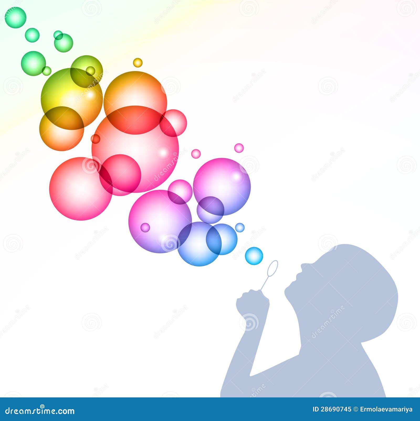Blowing Bubbles Clip Art Child blowing bubbles.