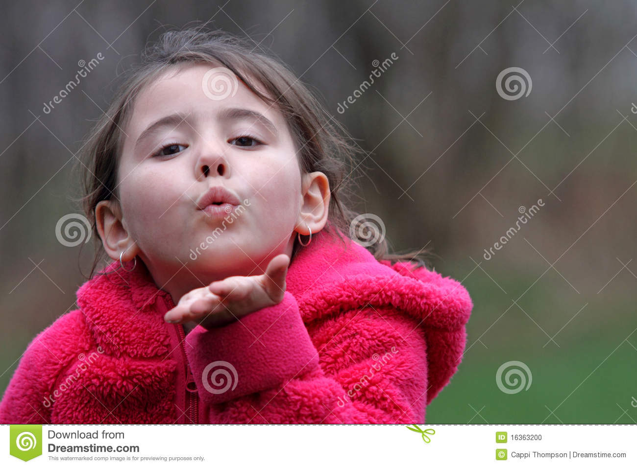 Child Blowing Kiss Stock Photo - Image: 16363200