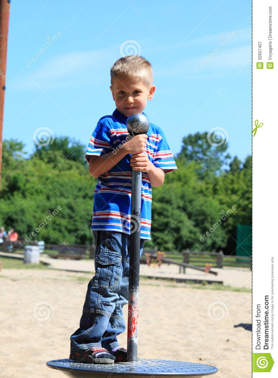 Child Boy Or Kid Playing On Playground Royalty Free Stock
