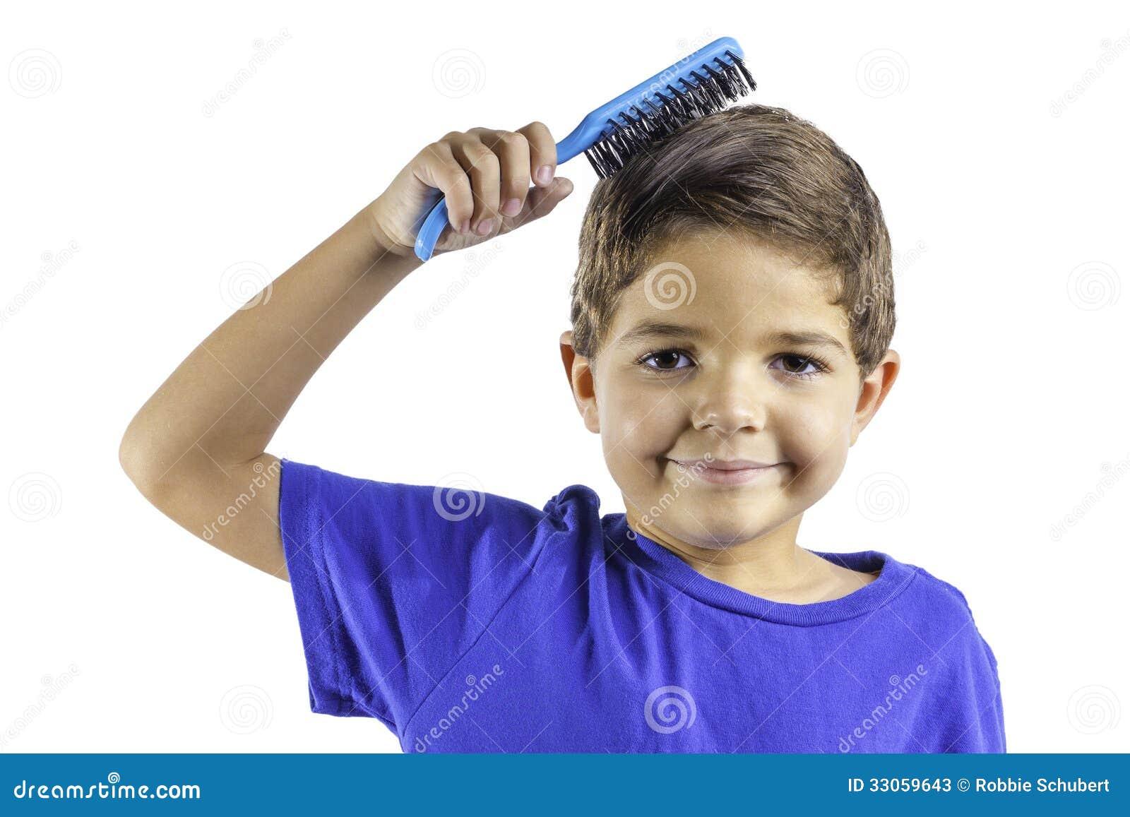 Boy Combing Hair Clipa...