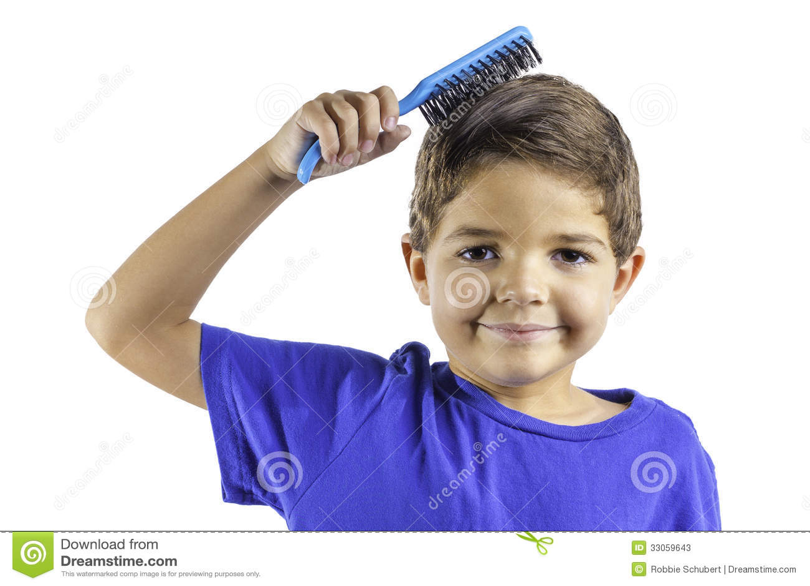 child brushing hair stock photos image 33059643