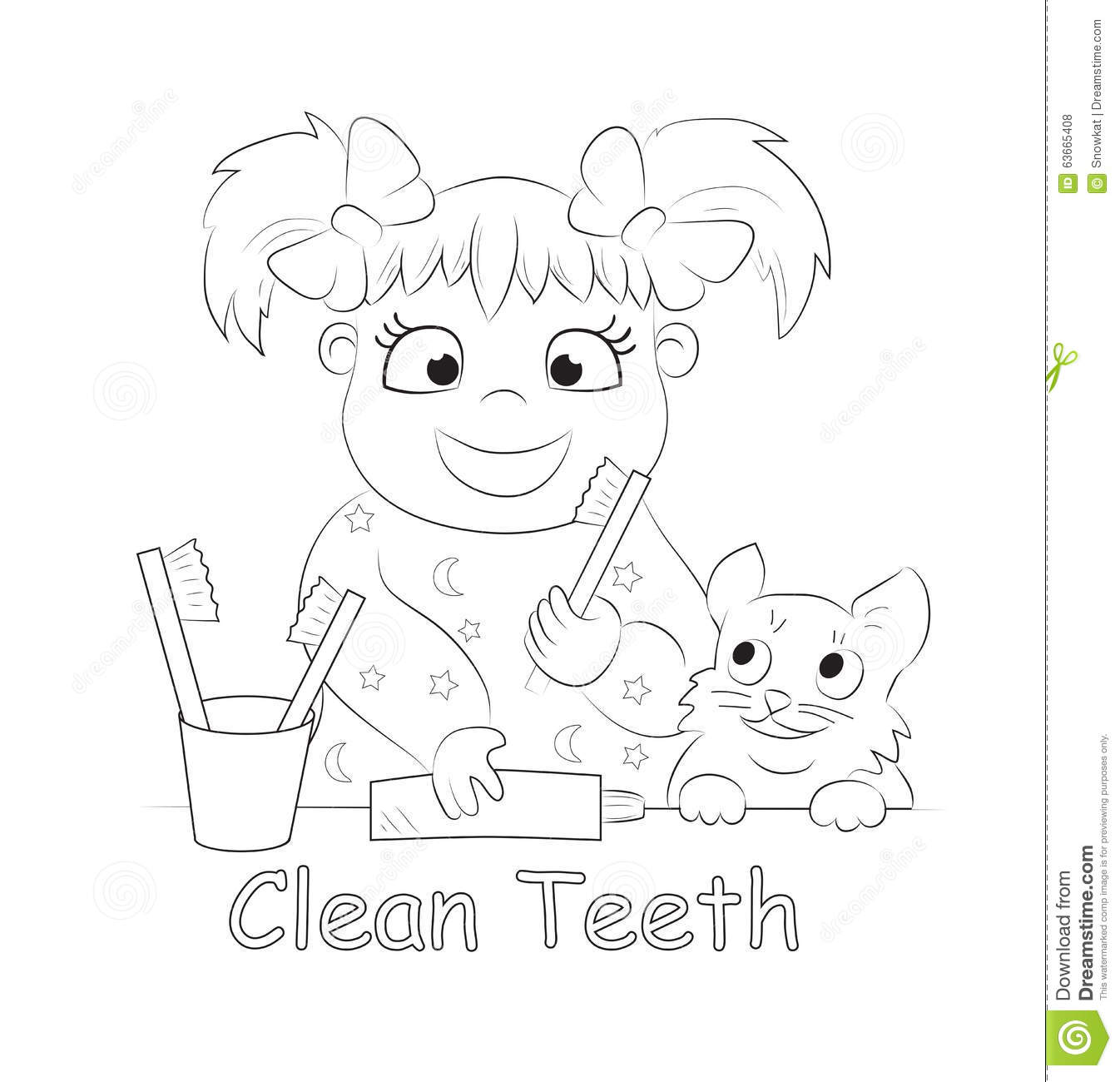 child brushing teeth coloring pages - photo#11