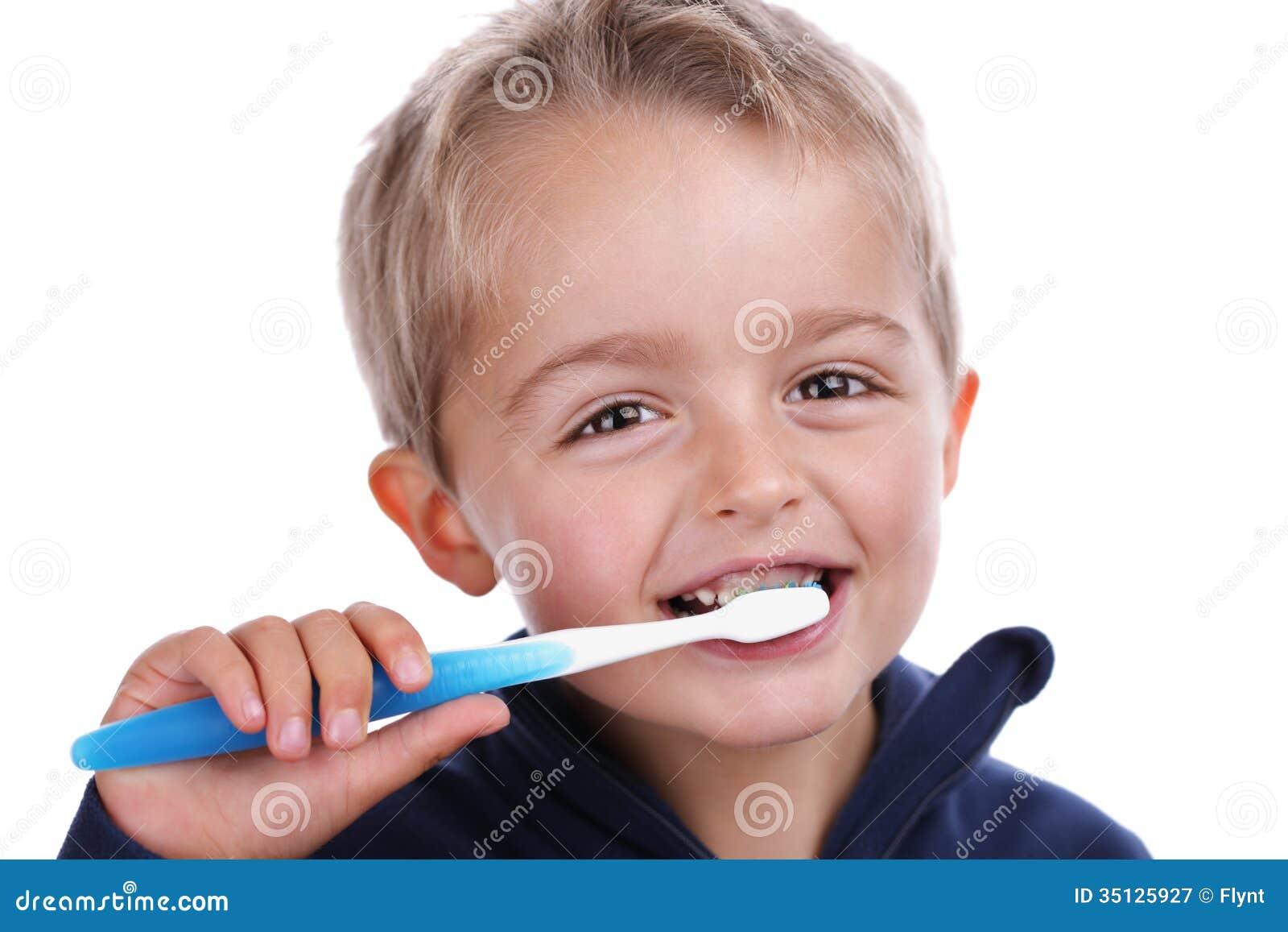 Child Brushing Teeth Royalty Free Stock Photography - Image: 35125927