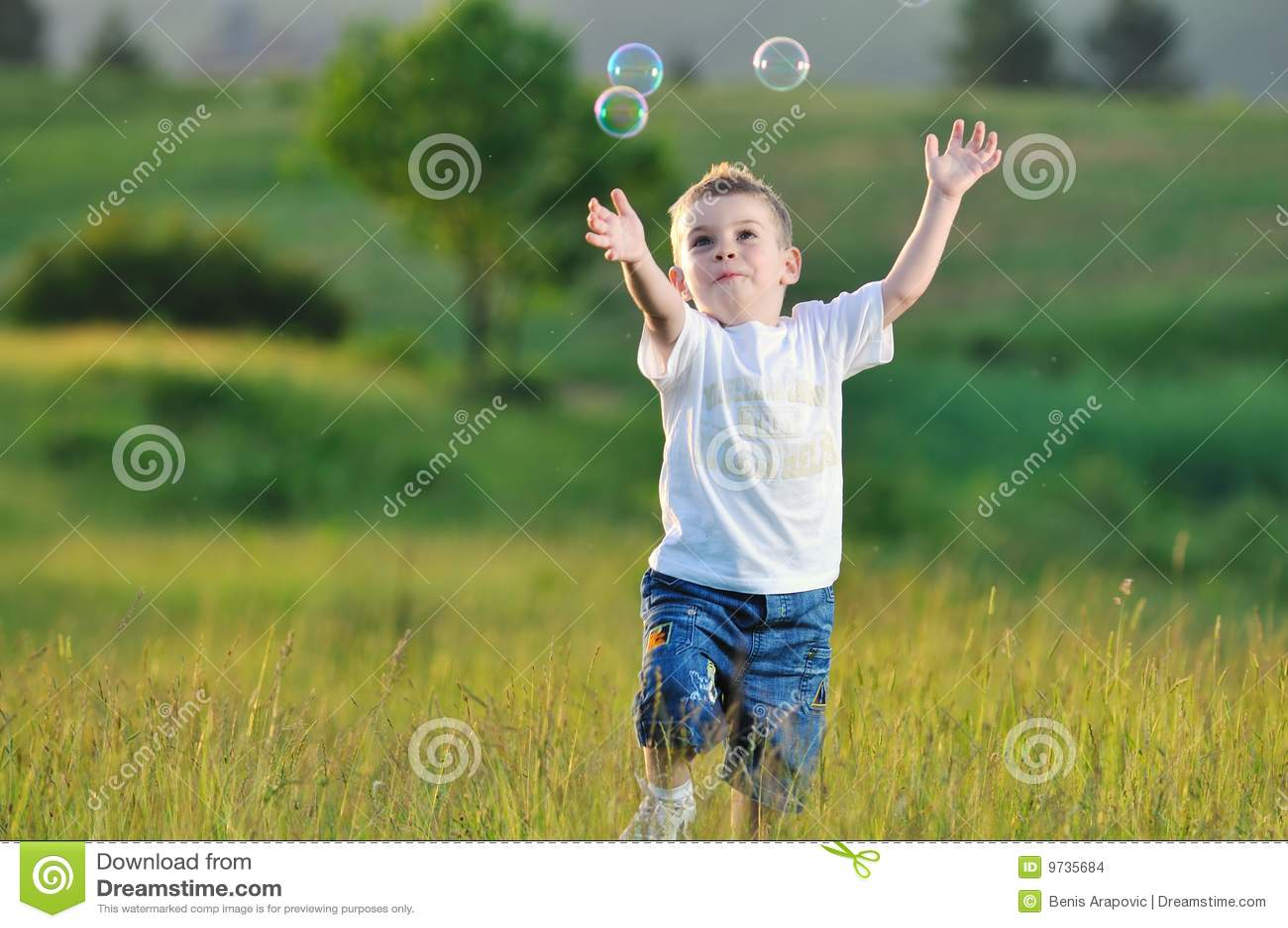 Child Bubble Stock Photo Image Of Bubble Infant Catch